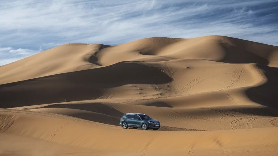 SEAT Tarraco Goes Surfing in the Desert